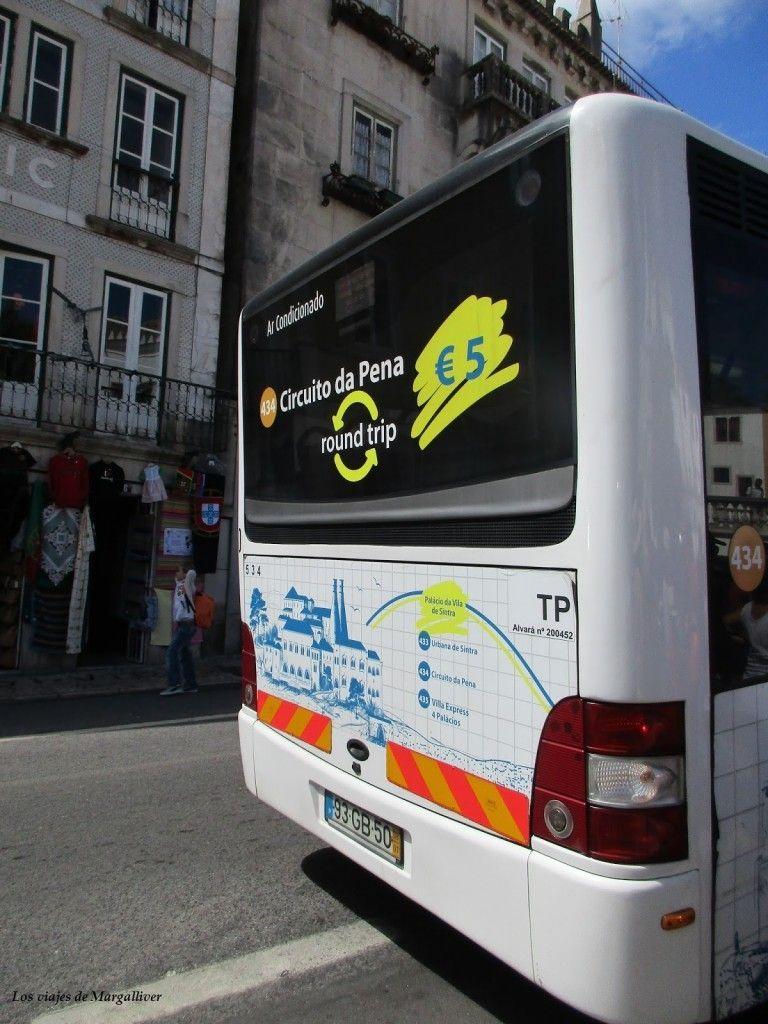 Bus 343 que te lleva al Palacio da Pena, Sintra - Los viajes de Margalliver